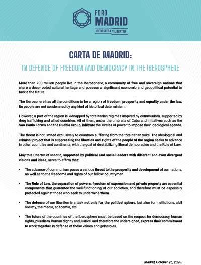 Carta de Madrid (EN)