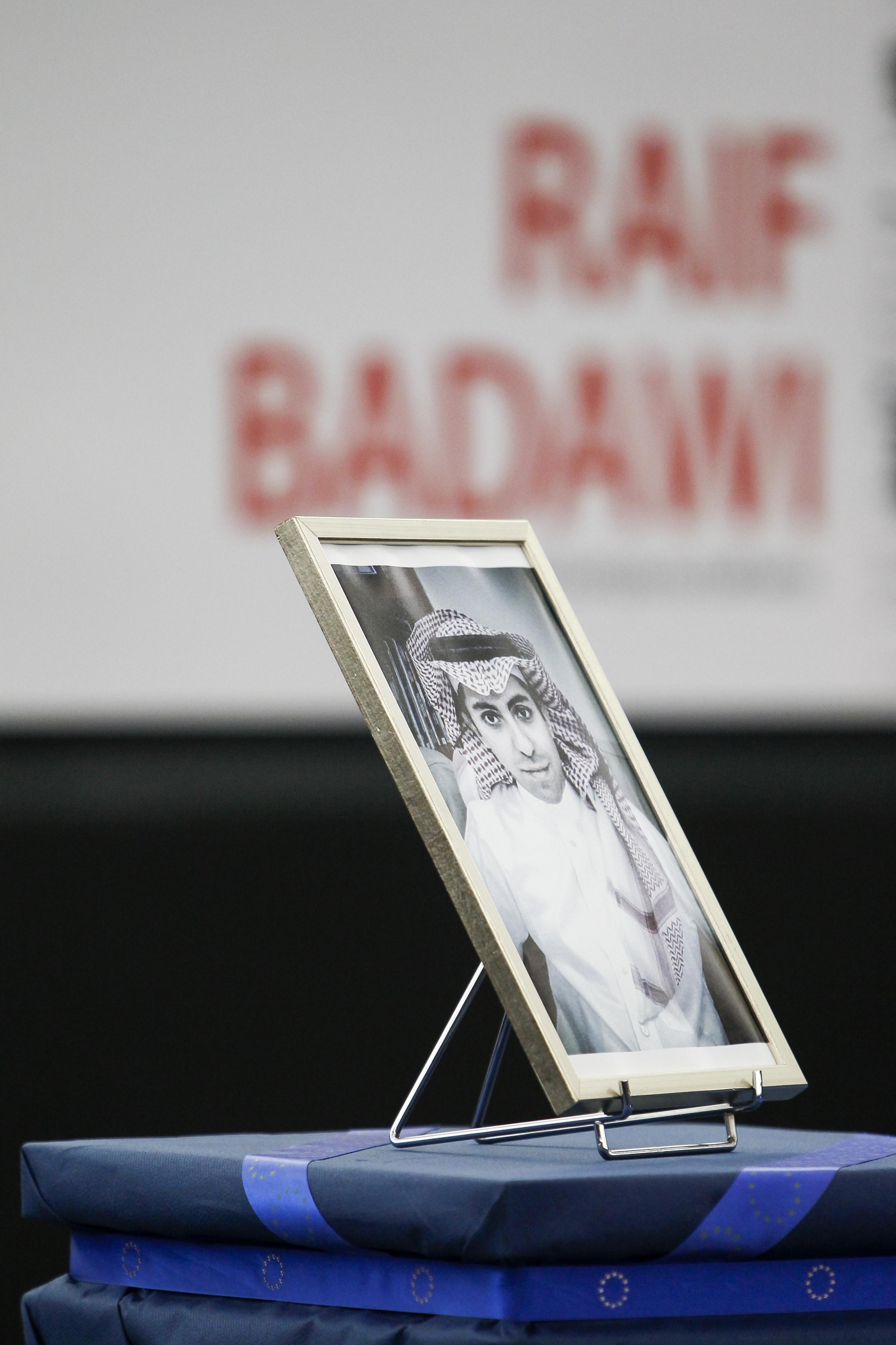 Saudi blogger Raif Badawi wins the 2015 Sakharov Prize