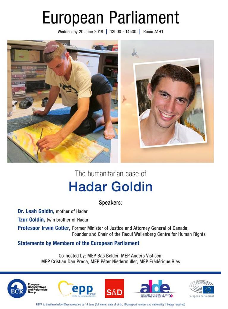 Family of Hadar Goldin to speak in the European Parliament