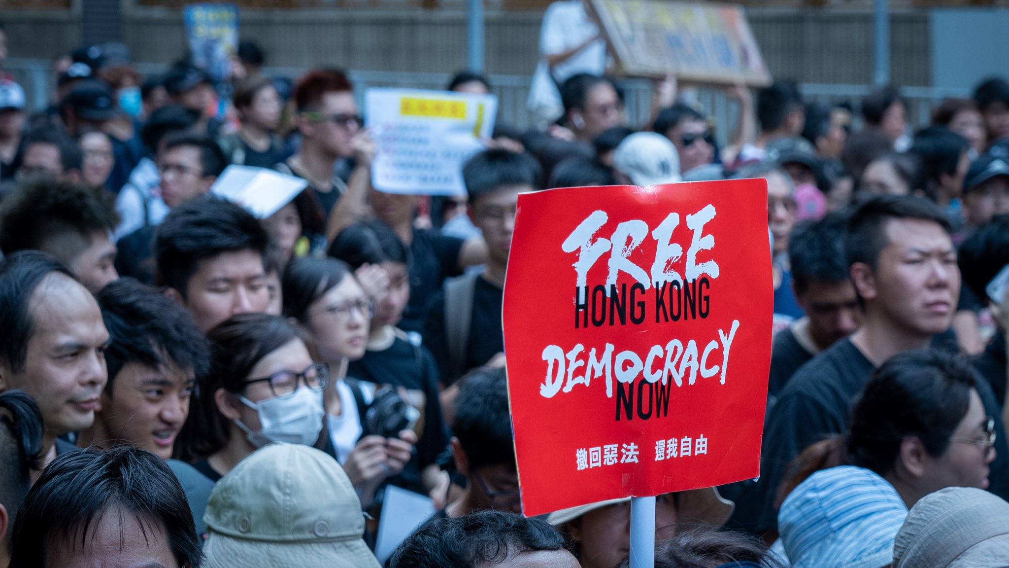 The ECR displays its support for Hong Kong with an exchange of views with pro-democracy activists