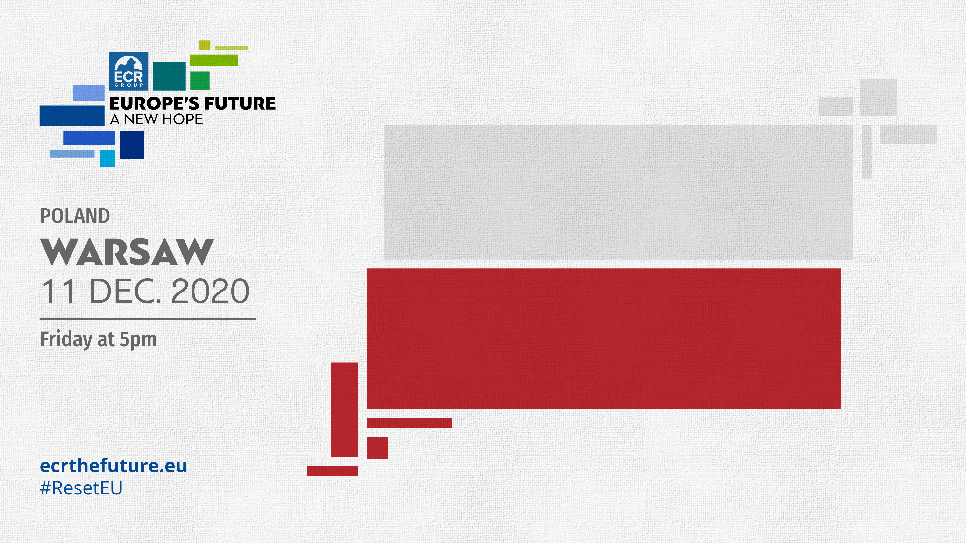 "ECR European Tour: ""Europe's Future. A New Hope""."